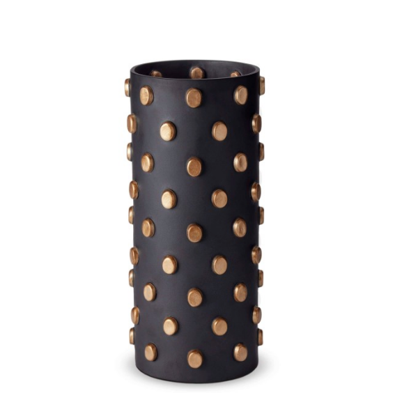 TEO VASE | L'OBJET | BLACK & GOLD  | LARGE