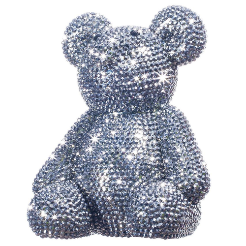 RHINESTONE BEAR (PIGGY) BANK | GRAPHITE