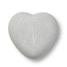 SHAGREEN HEART BOX | DOVE
