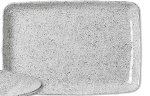 CRACKEL SERVING PLATTER | WHITE/GREY