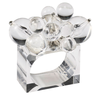 CLOUD NAPKIN RING | CLEAR