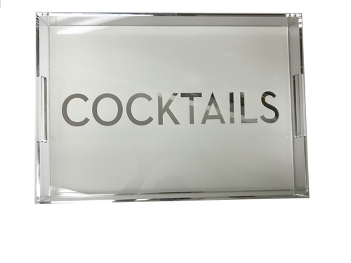 DOWNTOWN TRAY | WHITE COCKTAILS