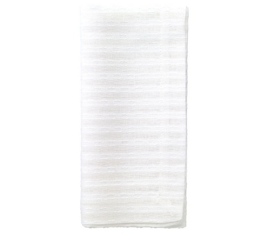 BASKET WEAVE NAPKIN | WHITE | SET 4