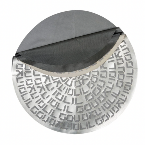 A LEATHERETTE MATZAH COVER | SILVER | NEW!