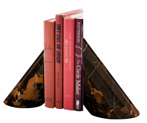 CORNOET BOOKENDS | BLACK & GOLD