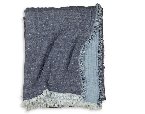 COZI THROW | NAVY & LIGHT BLUE