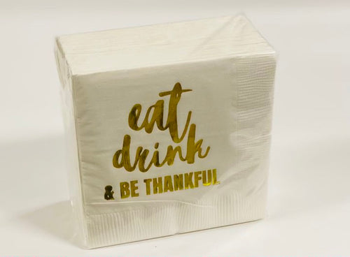 COCKTAIL NAPKIN PACK | EAT, DRINK & BE THANKFUL