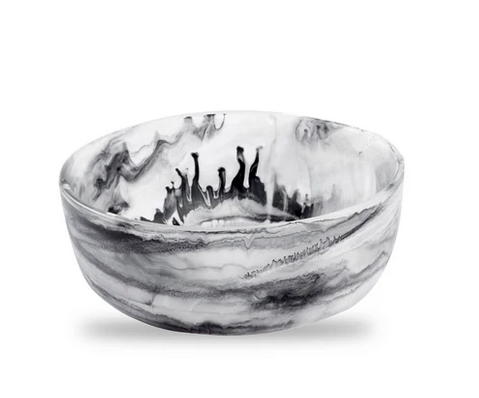SWIRL RESIN ROUND BOWL | BLACK | VARIOUS SIZES