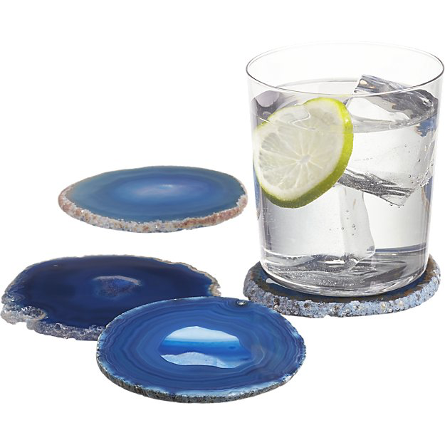 AGATE COASTERS | BLUE