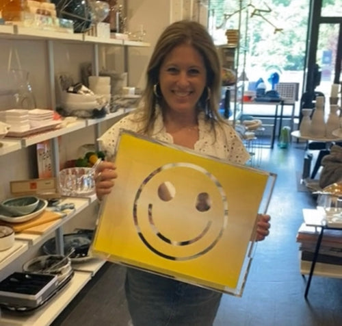 SMILEY TRAY OMBRE YELLOW