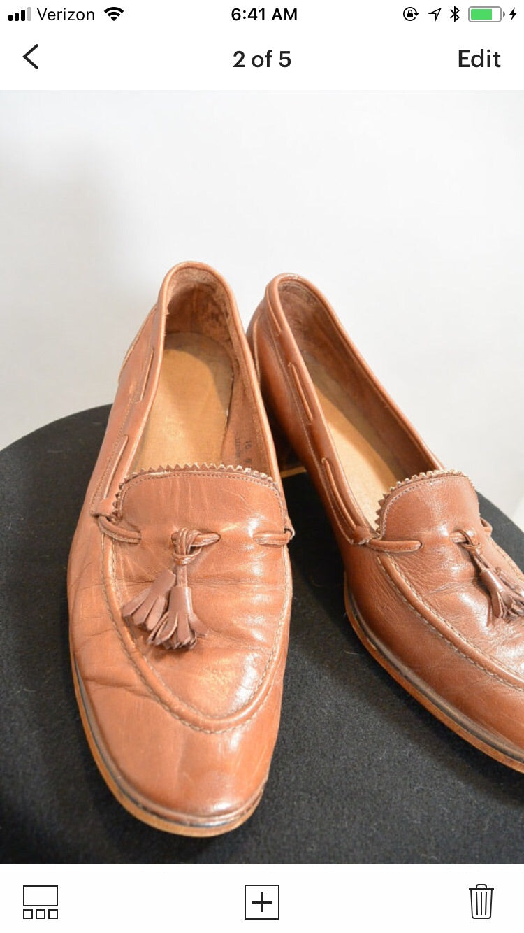 04d92c2a94665 Vintage 70s Penny Loafers// 70s Loafer Pumps// Loafers with Tassels ...