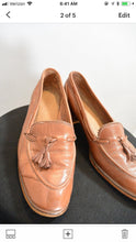 Vintage 70s Penny Loafers// 70s Loafer Pumps// Loafers with Tassels (F1)
