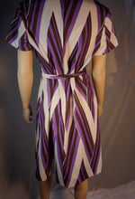 L'aiglon Original 60s Shift Dress with Belt// Vintage Mod Dress// Psychedelic Shift Dress Large (F1)