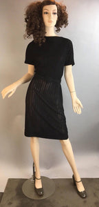 60s Wiggle Dress// Mad Men Dress// Vintage 60s Brielle Creations Dress (F1)