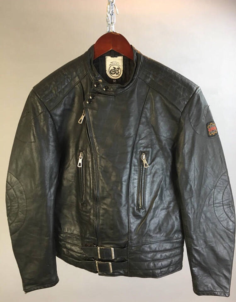 Mens Vintage Motorcycle Jacket Vintage Leather Jacket European