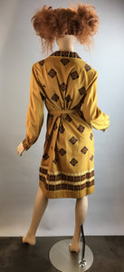 Vintage Alfred Shaheen Dress// Mod Hawaiian Print Dress// 60s Shaheen Mod Shift Dress Large (F1)