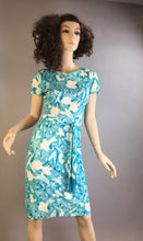 Vintage Wiggle Dress// 60s Acetate Dress// Floral Resort 60s Dress (F1)