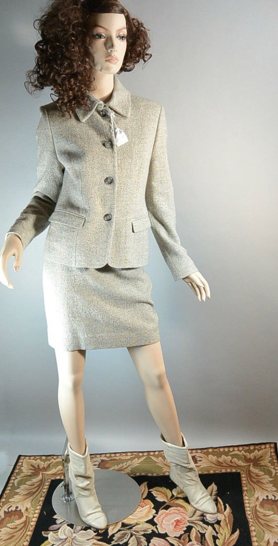 Totally 80s Power Suit// Secretary Wool Suit// 80s Working Girl Suit// Small Women's Suit (F1)