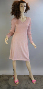 Sparkly Disco Dress// 70s Pink and Silver Disco Dress// 70s Brady Bunch Dress (F1)