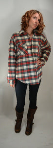 Grunge Flannel// 80s Flannel// Insulated Flannel Button Down// Quilted Flannel (F1)