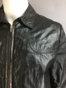 Vintage Leather 80s Jacket// Faux Fur Lined Motorcycle Jacket// 80s Leather Jacket (F1)