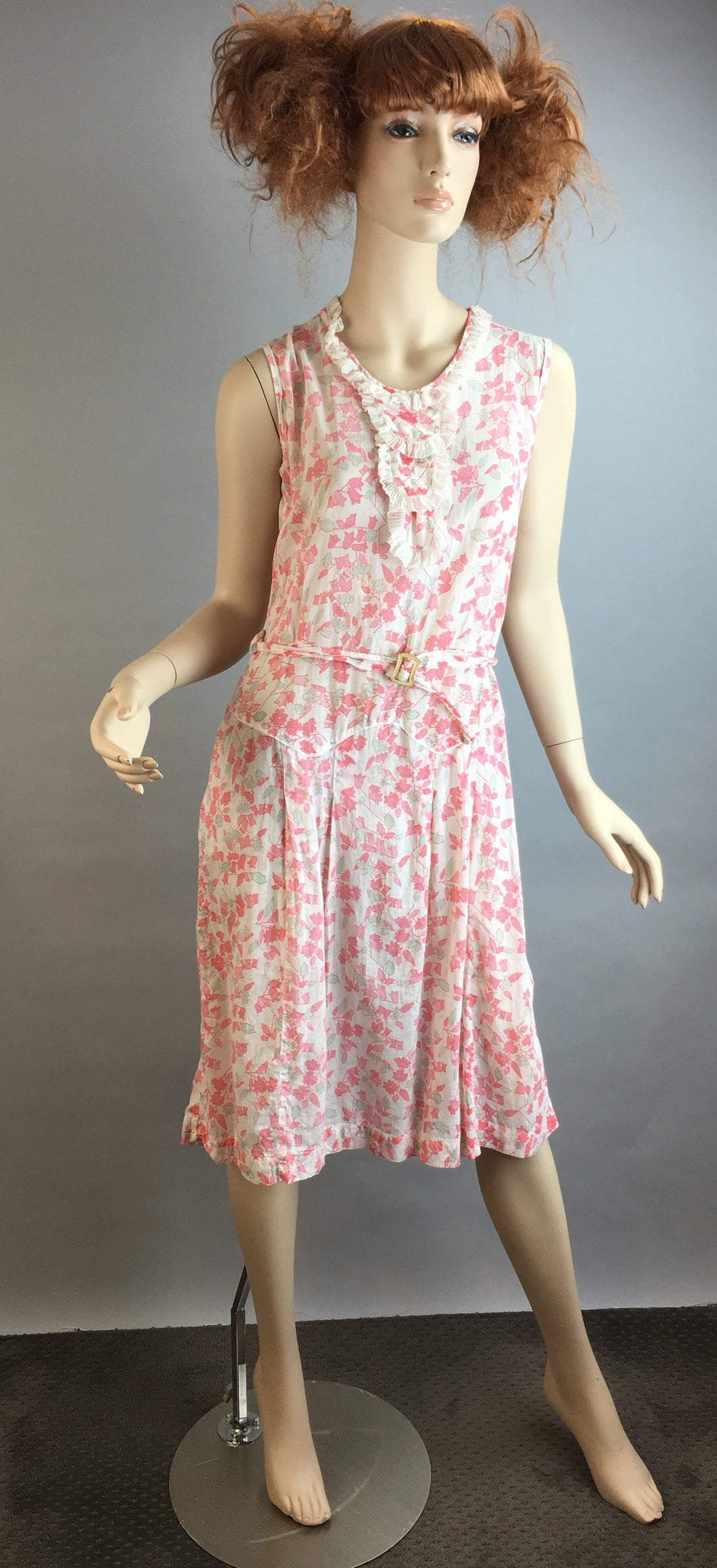 Vintage 30s Style Summer Dress and Jacket// Cotton Flapper Dress// Downton Abbey Style Summer Dress (F1)