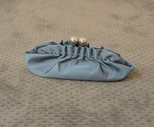90s Purse// Baby Blue Purse// Satin Clutch Purse (F1)