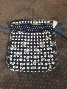 Vintage Mod Bead Purse// Totally Reversible Beaded Purse// Vintage Candy Bead Wristlet (F1)