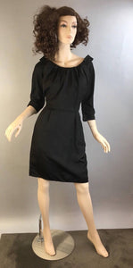 Vintage Cocktail Dress// 60s Party Dress// Vintage Little Black Dress (F1)