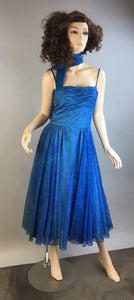 Vintage 50s Dress// Circle Skirt Dress// Vintage Formal MadMen Dress (F1)