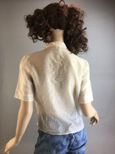 80s Valley Girl Shirt// Vintage Parachute Shirt// Vintage Blouse size small (F1)