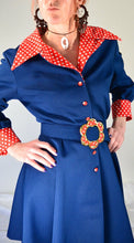Country Western Dress// Vintage 60s Cowgirl Dress// Western Style 60s Dress (F1)