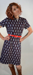 60s mod dress// Vintage 60s shift dress// Mod Mad Men dress (F1)