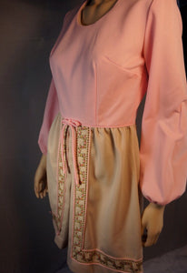 Cute Pink Dress// 60s Dress// Brady Bunch Dress// Ice Capades Mini Dress Small (F1)