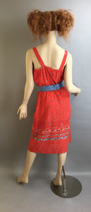 Cotton Summer Dress// Vintage 70s Sleeveless Dress// Hippie Festival Dress (F1)