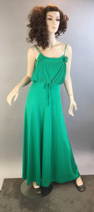 Vintage 70s Prom Dress// Vintage Bridesmaid Dress// Maxi 70s Dress (F1)