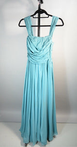 50s Evening Gown// Vintage Prom Dress// Nelle Johnson 50s Silk Chiffon Dress// Size XS (F1)