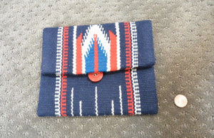 Chimayo Wallet// Vintage American Change Purse// Hand Woven Wallet (F1)