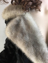 Long Cows Fur Coat// 60s Fur Coat// shaved Cow fur coat with Fur collar (F1)