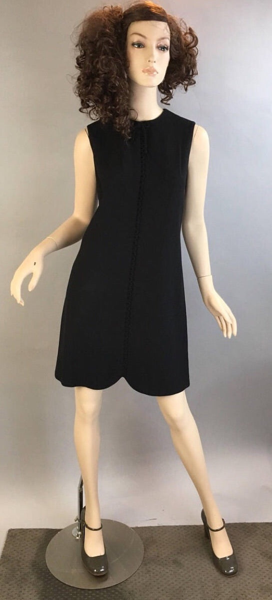 Vintage Mod Dress// 60s Shift Dress// Mad Men 60s Mini Dress Helen Whiting (F1)