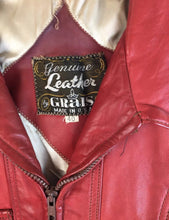 Vintage 70s Red Leather Jacket// Vintage Superfly Motorcycle Jacket// Disco Leather Jacket (F1)