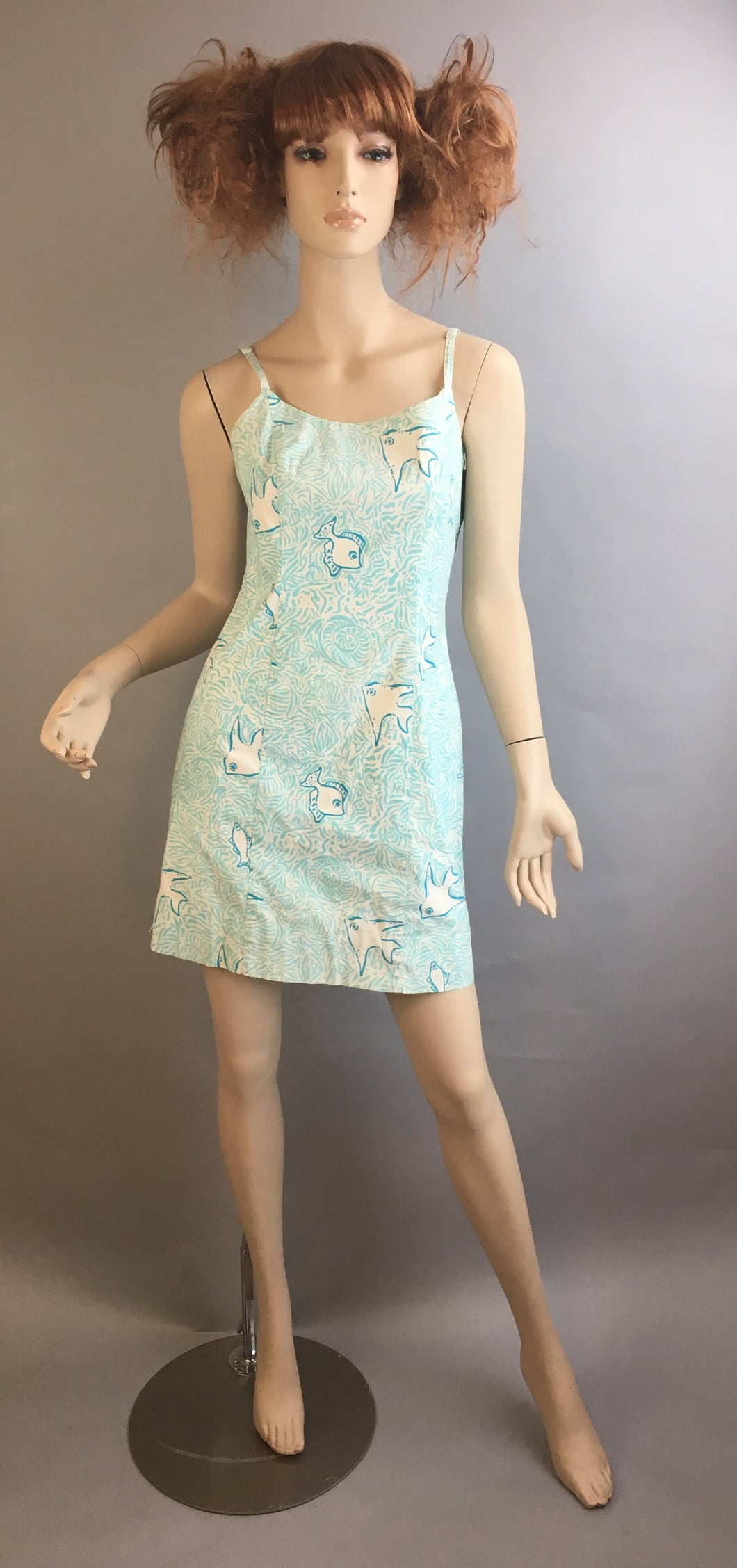 Vintage Lilly Pulitzer Dress// 80s Pastel Print Dress// Preppy Lilly Pulitzer Dress (F1)