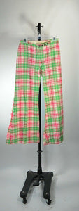 Bell Bottom Pants// Plaid 70s Pants// Brady Bunch Pants// Pink Disco Pants (F1)