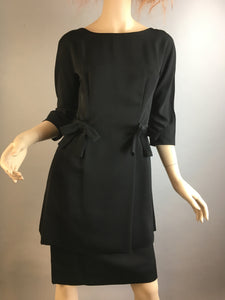 Vintage 50s Tunic Dress// Vintage Silk Tunic and Skirt Set// Vintage Dress Set (F1)