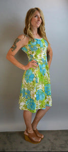 Vintage DeWeese Design Swim Dress// Vintage 60s Swim Dress// 60s Brady Bunch Dress (F1)