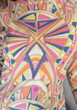 Vintage Pucci Sweater// Emilio Pucci Sweater// 60s Designer Psychedelic Sweater (F1)
