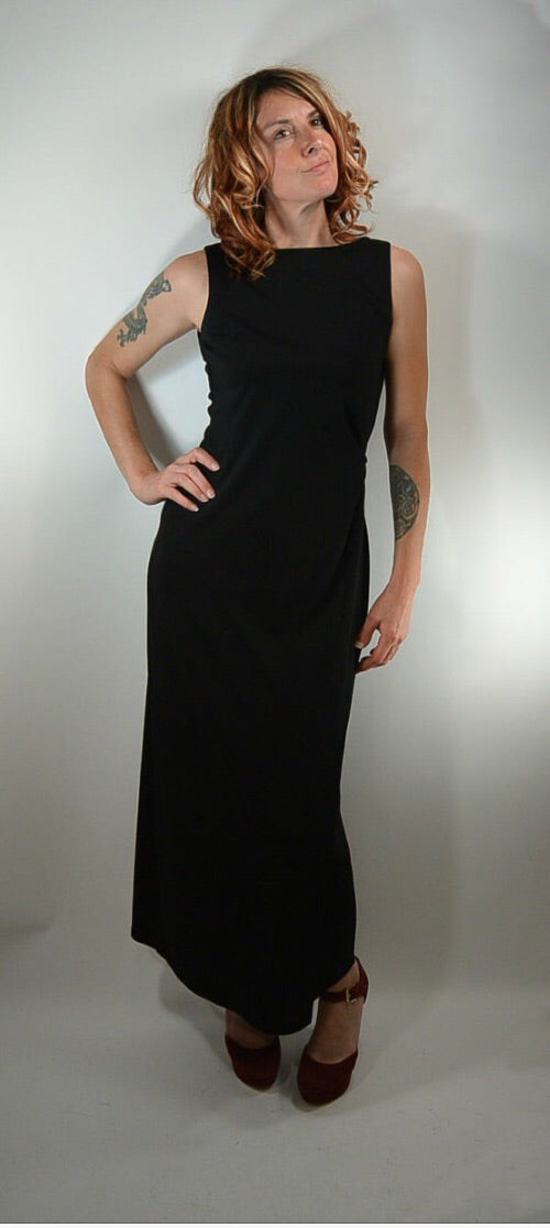 90s Clubbing Dress// Maxi Dress// Great Holiday Dress// Max Studio Long Dress (f1)