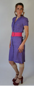 Ralph Laren Polo Dress// Vintage 80s Shirt Dress// Vintage Designer Dress (F1)