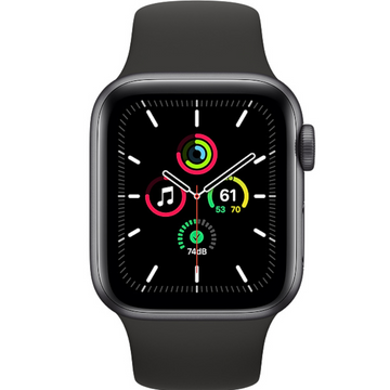 Apple watch - Series SE 40mm Space Grey Aluminum Case Black Sport Band - Azzam Watches