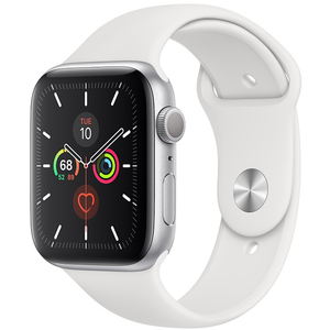 Apple Watch - Series 5 - 44mm Silver Aluminum Case with Sport Band - Azzam Watches